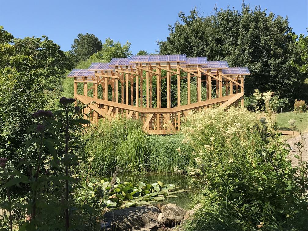 jardin botanique de Nancy – prix Picoré 26 juin 2018 – les cabanes des défis du bois 3.0